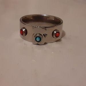 Titanium Steel Bear Ring Sz 5.5/6 NWOT